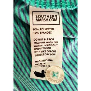 Southern Marsh Shirts - Southern Marsh Mens Bermuda Johnson Blue Polo L